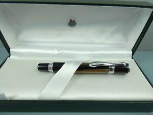 Monteverde USA Jewelria Mini Brown Stripe Fountain Pen, CT, Steel Nib, Box, NOS