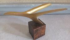 mascotte automobile ? avion ? mascot car métal doré