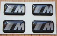 4 BMW black M Tec Badge Alloy Wheel stickers Sport performance Emblem 17 18 19