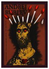 Andrei Rublev Poster Tarkovsky Film Polish Art Banned In Russia Flaming Jesus