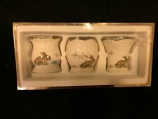 Lenox Set of 3 Bunny Votive Candle Holders Nib for Easter