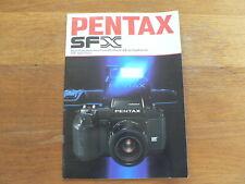 PENTAX CAMERA SFX MULTI-PROGRAMME AUTO FOCUS SLR KLEIN 1987 BROCHURE,PROSPEKT