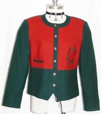 WOOL ~ GREEN RED Women AUSTRIA Hunting Riding Winter Dress JACKET Coat 38 10 M