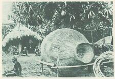 G0629 Engins de peche aux Iles Salomon - Stampa d'epoca - 1926 Old print