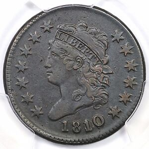 1810/09 S-281 PCGS XF Details Classic Head Large Cent Coin 1c