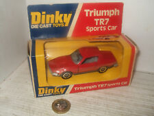 Vintage Dinky 211 Triumph TR7 Sports Car  working features in original Dinky Box
