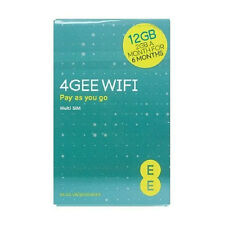 EE PAYG SIM Mobile Broadband Card Preloaded 12GB Superfast 4G Data  New Uk