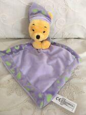 Doudou plat Winnie violet luminescent étoile nuage Disney Nicotoy
