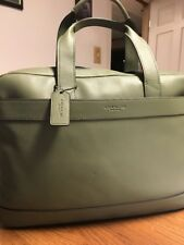 NWT Coach Hamilton Bag in Leather - Military Green - Laptop - Mens / Womens