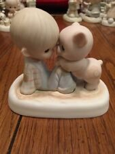 Precious Moments Figurine ~ WE'RE IN IT TOGETHER - E-9259 ~ Boy Pig  MIB