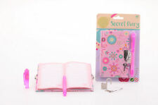 GIRLS SECRET DIARY WITH UV LIGHT PEN AND LOCK WRITE HIDDEN MESSAGES A6 DIARIES