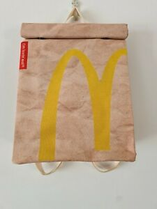 McDonalds Style Backpack - Waterproof Rucksack School Bag - Recycled Polyester -