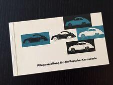 Origine Porsche 356 Corps Reutter Conseil D'Entretien - Manuel de L'Utilisateur