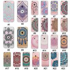 For 4S 5S SE 5C 6 6S Plus Colorful Hollow Silicone Pattern Soft TPU Case Cover