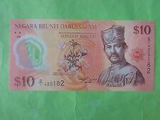 Brunei $10 Polymer 2011 (UNC) 1st Prefix D/1 425182