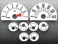 2005-2007 Ford Mustang 120 mph V6 Dash Cluster White Face Gauges 05-07