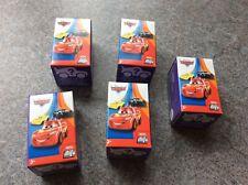 New Disney Pixar Cars, 5 x Diecast Mini Racers, Cake Toppers