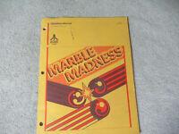cover torn MARBLE MADNESS ATARI    arcade game manual