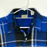 Five Brother Mens Outdoor Shirt LS Blue Black Plaid XL