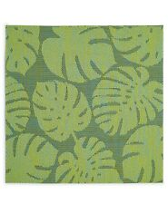 Fiesta Tropical Leaf Woven PVC Placemats Set of 4 Green Indoor Outdoor 15x15""