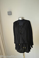 NEW MELISSA ODABASH BLACK NATASHA KAFTAN COVER UP/  BEACH DRESS SIZE Medium £295