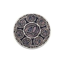 Mackintosh Purple Roses Brooch Silver Plated Brand New Gift Packaging