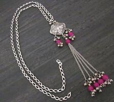 Chain Tassel Long Necklace Pendant Bohemian Gypsy Tribal Vintage Fashion Jewelry