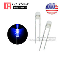 100pcs 3mm Transparent Led Water Clear Blue Light Diodes Round Top Ultra Bright