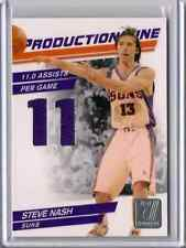 STEVE NASH 2009 PRODUCTION LINE 11.0 ASSISTS GAME USED JERSEY#/399