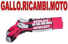 Calze Ufo plast rosse-grigie con scritta ufo in bianco motocross  e enduro