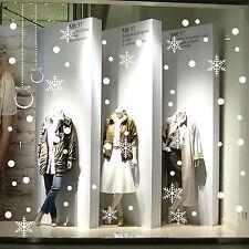 vetrofanie natale wall sticker adesivo vetrine negozio 54 pz neve ghiaccio palle