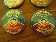 Barack OBAMA DAVE MATTHEWS TIM REYNOLDS  '08 CONCERT SERIES PIN
