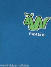 Scotland Loch Ness Blue Cotton T Shirt Size 14 Bust 90cm Length 69cm Nessie