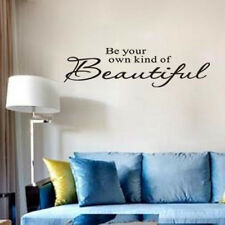 Be your own kind of Beautiful Modern Vinyl Art Words Decal Wall Quotes Sticker