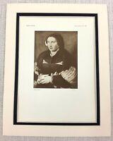 1927 Antico Stampa Ritratto Di Un Lady Bernard Van Orley Vecchio Master Pittura