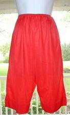 """Vintage Nancy King Red Nylon Lace Petti Panties Tap Sz M 20-36""""W"""