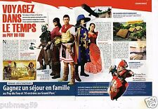 Coupure de Presse Clipping 2010 (2 pages) Le Puy du Fou