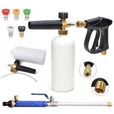 High Pressure Car Power Washer Spray Gun Wand Lance Nozzle Snow Foam Bottle Set