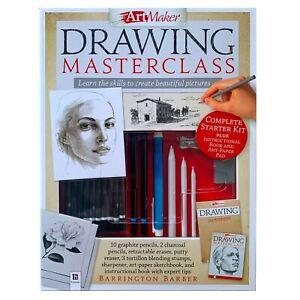 Art Maker Drawing MASTERCLASS Complete Starter Kit + Instruction Book & Art Pad