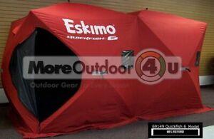 69149  Eskimo Pop Up Portable QuickFish 6 Family Shanty Ice Shelter MFG REFURB