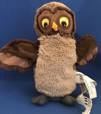VANDRING UGGLA Ikea Brown Owl Hand Puppet 17596 tush tags only 10""
