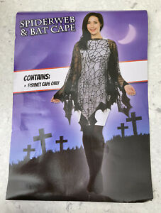 Spiderweb and Bat Cape for HALLOWEEN - One Size - FREE POSTAGE