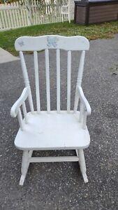 CHILDRENS ROCKER Wooden white Toddler Childs Kids Rocking Chair