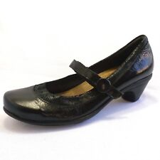 NAOT TRENDY Womens 40  Black Patent Leather Mary Jane Pums Career Comfort Shoes