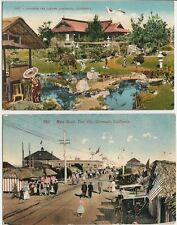 2 - Old Postcards - Tent City & Japanese Tea Garden - Coronado CA