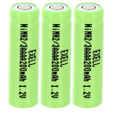 3x 2/3AAAA 1.2V Flat top Rechargeable Battery For Solar Lights, Remotes,Telecoms