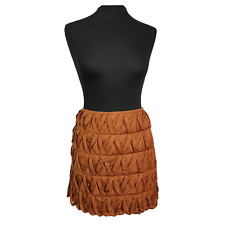MONSOON Skirt Size 10 Brown Ruffled Holiday Everyday Evening Party Summer *