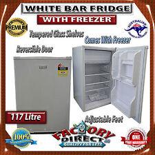 NEW! 117L Upright White Bar Fridge With Freezer RRP$345.00 Refrigerator Beer Bar