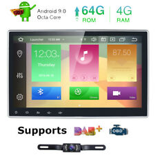 "10.1"" In Dash GPS Navi Android 9.0 2 Din Car Stereo DVD Player Octa Core Wifi 4G"