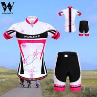 Ladies Cycling Kit Short Sleeve Jersey Gel Padded Shorts Quick Dry MTB Road Bike